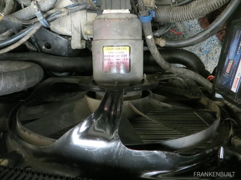 Radiator fan housing clearance for GTD Intercooler