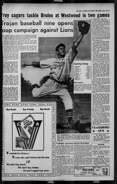 Daily Trojan, Vol. 34, No. 98, March 05, 1943