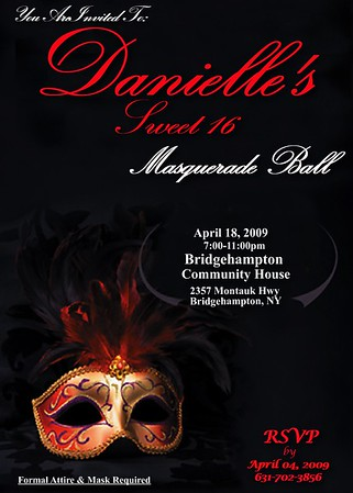 Masquerade Ball Invite