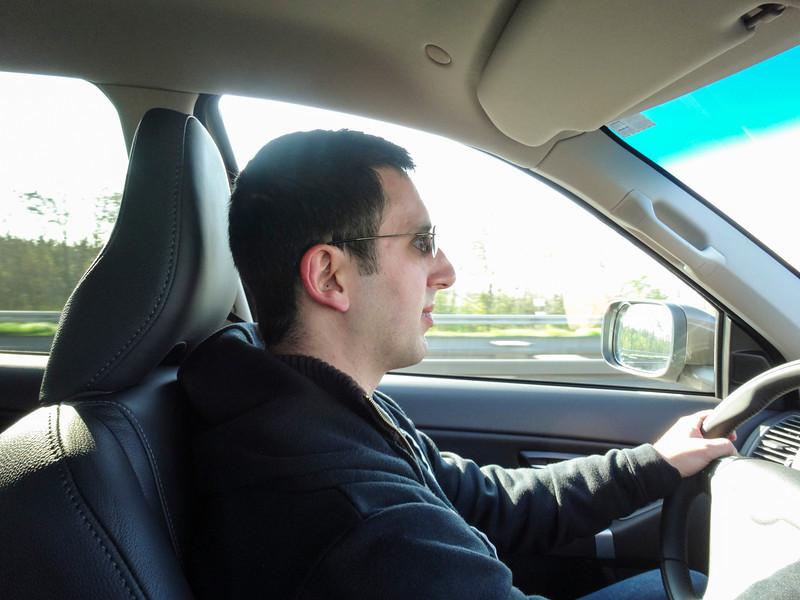 Me driving 180km/hr ... 120 mph!