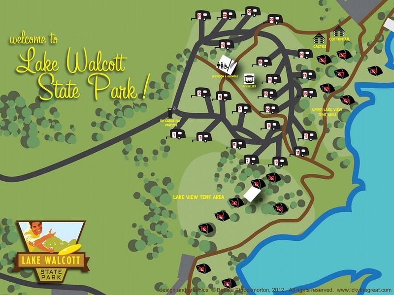 Lake Walcott State Park (Campground Map)