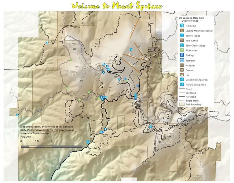 Mount Spokane State Park (Trail Map)