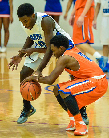 Basketball Varsity Boys vs  Bowie 01-28-14-7