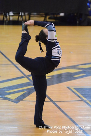 2-14-2015 Springbrook HS Varsity Poms at Richard Montgomery HS MCPS Championship, Photos by Jeffrey Vogt Photography with Kyle Hall