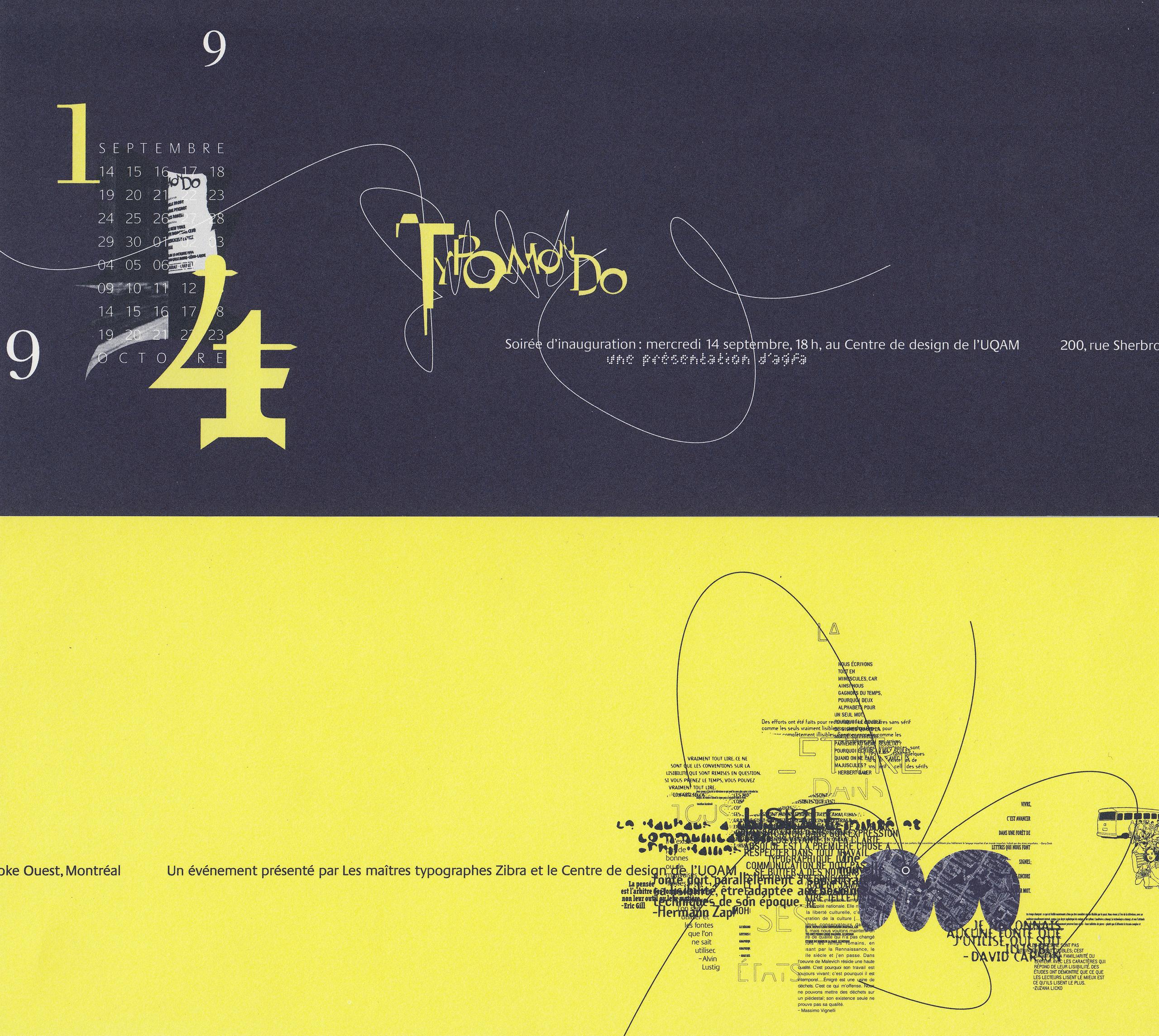 1994 - Exposition - Typomondo La lettre dans tous ses états