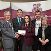Year 12 student St Pauls HS Bessbrook who achieved third place in Northern Ireland GCSE Irish pictured with her proud parents,Chair of Governors Mr John Campbell, Mr Jarlath Burns,(Principle St Pauls HS).R1406707