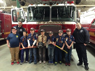 2014 - Webelos 1 visit the Marlboro Fire Departmen