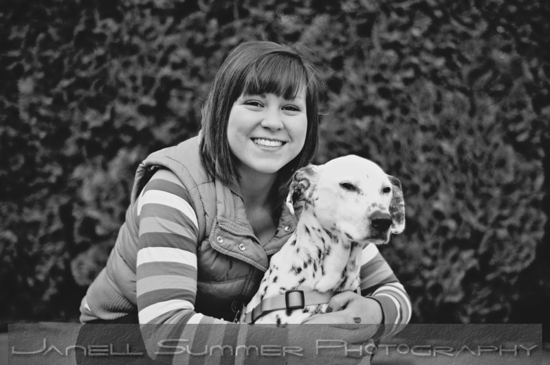Raney and her dog, Kelsey
