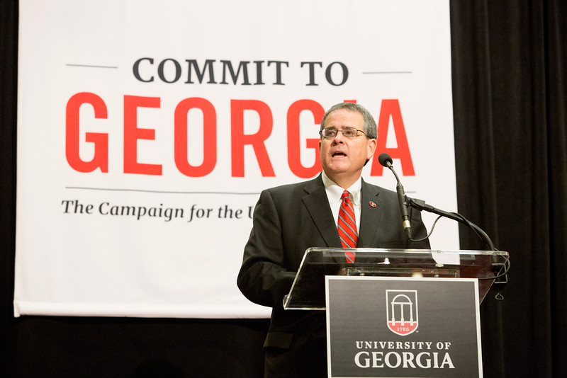 Description: Capital Campaign Athens Kickoff - Houston Gaines - Jere Morehead - Marshall ShepherdDate of Photo: 11/10/2016Credit: Dorothy Kozlowski, University of GeorgiaPhotographic Services File: 34412-096The University of Georgia owns the rights to this image or has permission to redistribute this image. Permission to use this image is granted for internal UGA publications and promotions and for a one-time use for news purposes. Separate permission and payment of a fee is required to use any image for any other purpose, including but not limited to, commercial, advertising or illustrative purposes. Unauthorized use of any of these copyrighted photographs is unlawful and may subject the user to civil and criminal penalties. Possession of this image signifies agreement to all the terms described above.
