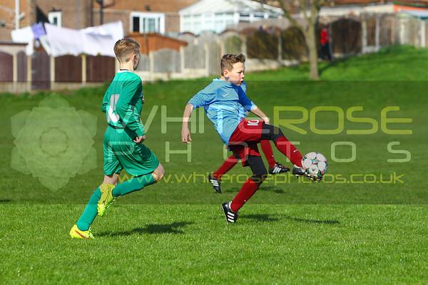 Under 12's v Pontefract sports & social under 12's