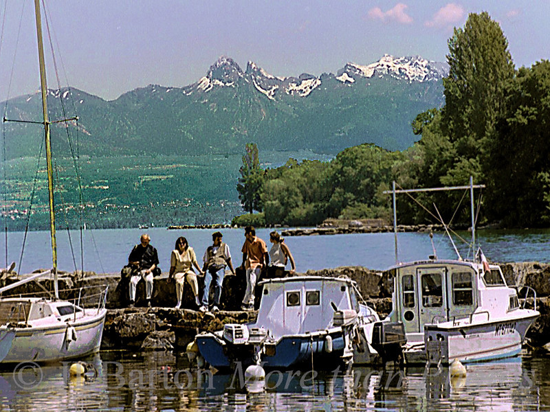 Swiss Alps from Lac Leman