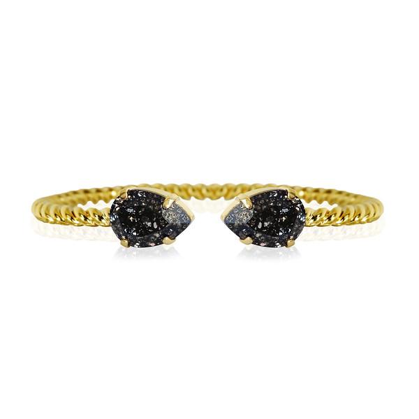 Mini Drop bracelet / Black Patina / Gold