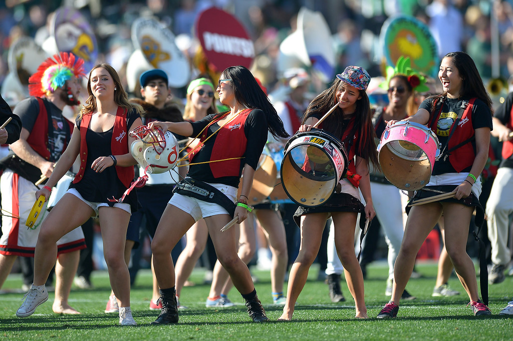 . The Stanford Marching Band performs before the Rose Bowl game, Wednesday, January 1, 2014. (Photo by Michael Owen Baker/L.A. Daily News)
