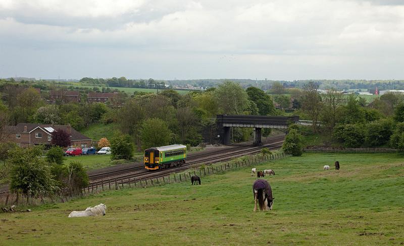 East Midlands 153 383 at Knabbs Crossing/Melton Ross.