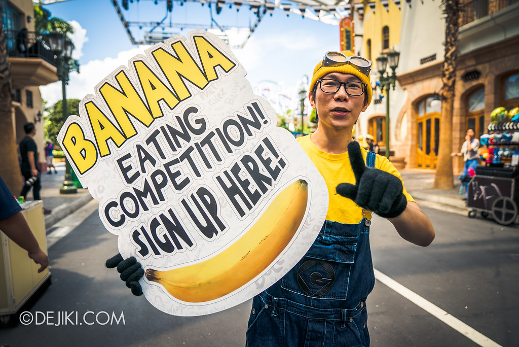Despicable Me Breakout Party at Universal Studios Singapore / Rodney Rotten Banana Eating Competition