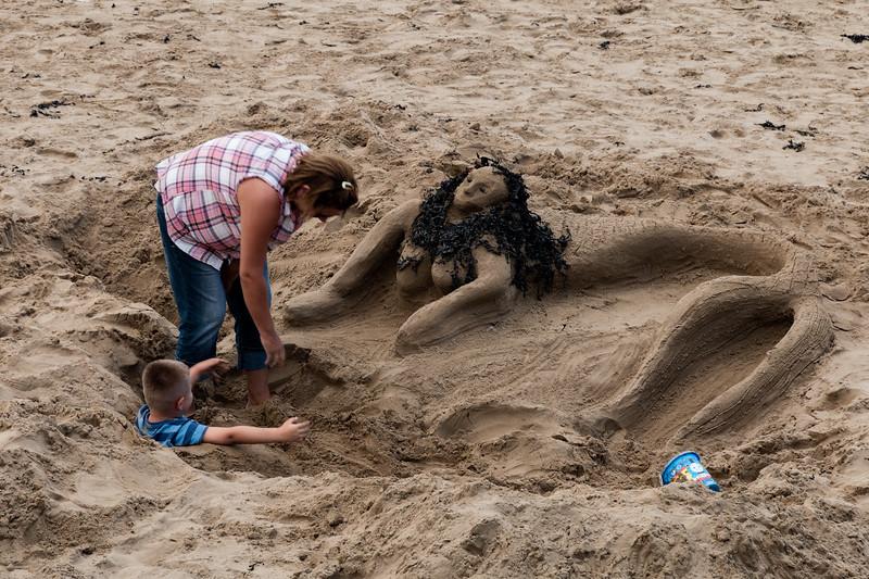 Building a Sand Sculpture