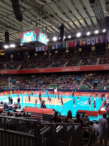 Day 15 - Earl's Court for Women's Volley Ball finals. USA vs. Brazil