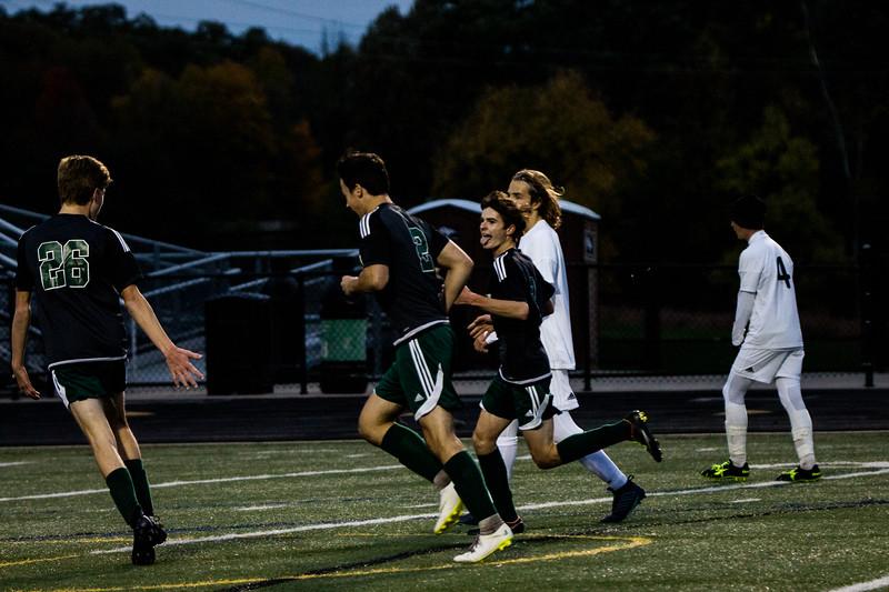 Holy Family Varsity Soccer vs. Monticello Oct 11, 2018: Dan Parker '20 (9)