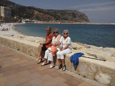 Barbara, Shirley, Patsy and Linda's holiday in Jávea June 2013