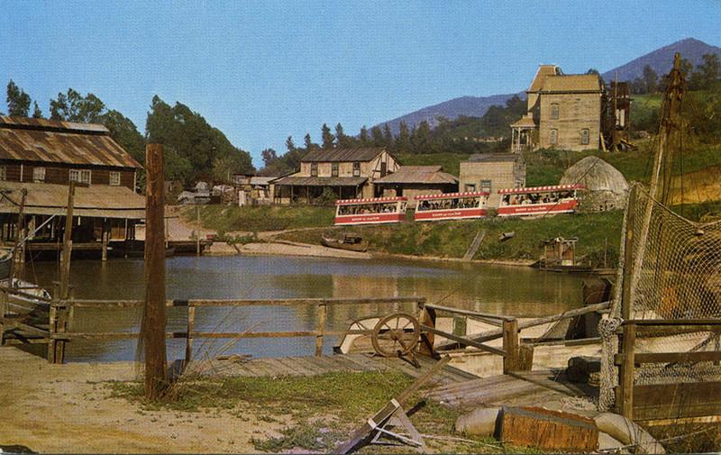 Tram Passing Lake