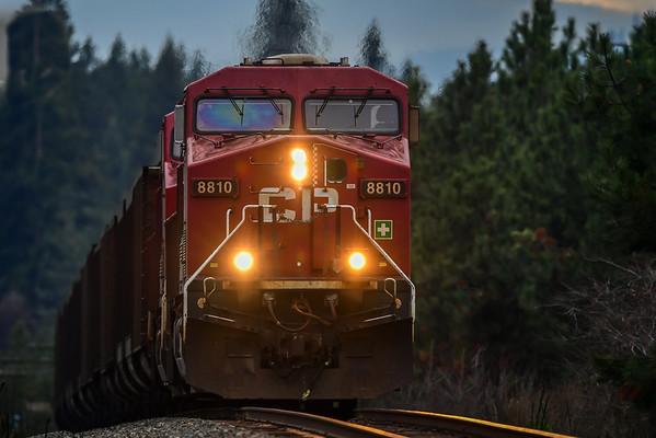 11-12-16 CPR Train - Near Kamloops BC