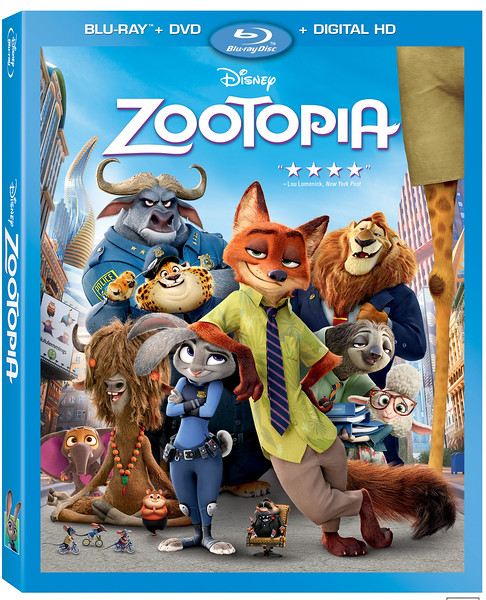 ZOOTOPIA coming to 3D, BD, DVD, and Digital with wealth of bonus material