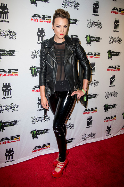 . Lzzy Hale of Halestorm seen at 2017 Alternative Press Music Awards at the KeyBank State Theatre on Monday, July 17, 2017, in Cleveland. (Photo by Amy Harris/Invision/AP)