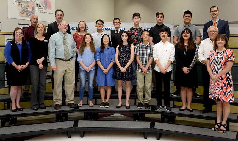 Henry Middle School band, recognized as the Middle School Exemplaray Band Program of the Year by the Texas Bandmasters Association for being a consistent exemplary perfroming band program in Texas for an extended period of time. Representatives of the band included Haley Alexander, Rachel Alexander, Sebastian Arguello, Talon Blottin, Glenn Choe, Santiago Cruz, Zoe Fisher, Koa Fujimoto, Minji Kim, Sarah Liu, David Whang and London Worsham. The HMS band is led by Director Robert Herring.