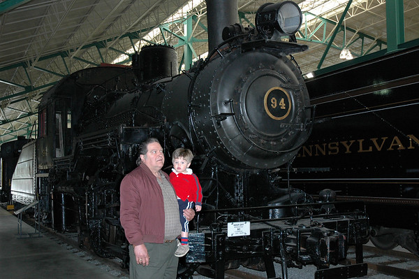 William & Charles at the Train Station