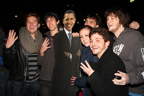 Young People Celebrating Obama's Victory