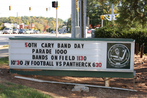 2008-11-01: Cary Band Day Field Show