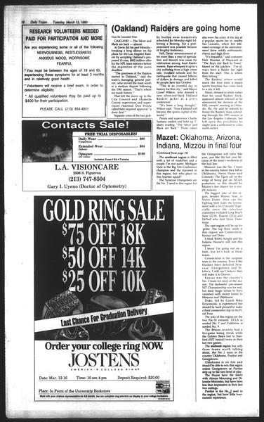 Daily Trojan, Vol. 111, No. 41, March 13, 1990