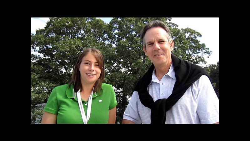 Evans Scholar, Jessica Dillard, interviews Chef Thomas Keller at the 2010 BMW Championship.