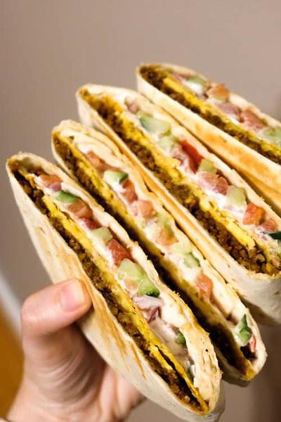 Vegan Crunchwrap Supreme (Taco Bell Inspired)