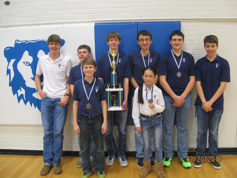 High School Chess TeamBack Row L to R Paul Brull, Nicholas Zimmerman, Patrick Kepka, Jason Kepka, Ian LenserFront Row L to R Sheldon Weber, Sheena Zeng