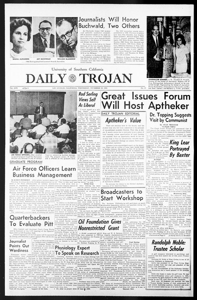 Daily Trojan, Vol. 57, No. 37, November 10, 1965