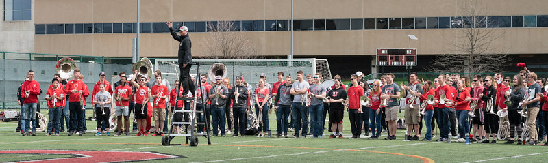 Joe Carver and members of the OSUMB/AB.  They get to play Ramp and the twirling feature SIX times each.