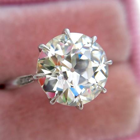 "3.96ct Old European Cut Diamond ""Margot"" Solitaire, GIA L VS2"