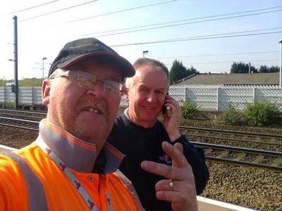 Andy & John Rail working  Lads  May   2015