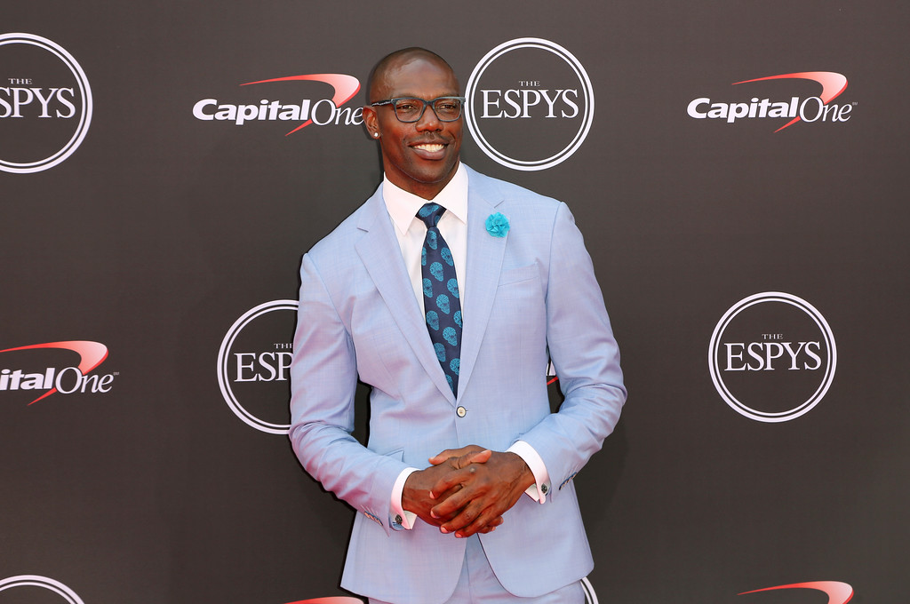 . Former NFL player Terrell Owens arrives at the ESPY Awards at Microsoft Theater on Wednesday, July 18, 2018, in Los Angeles. (Photo by Willy Sanjuan/Invision/AP)