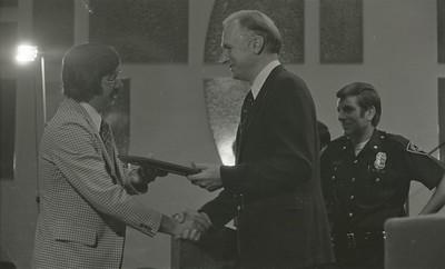 Mayor Hudnut Presents IPD Awards at City-County Council Chamber, Circa 1977, Img. 13