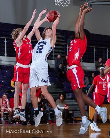 Broughton boys JV basketball vs Sanderson. February 11, 2019. 750_5591