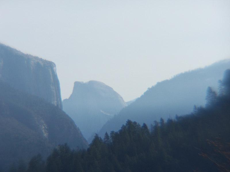 Classic view of El Capitan & Half Dome