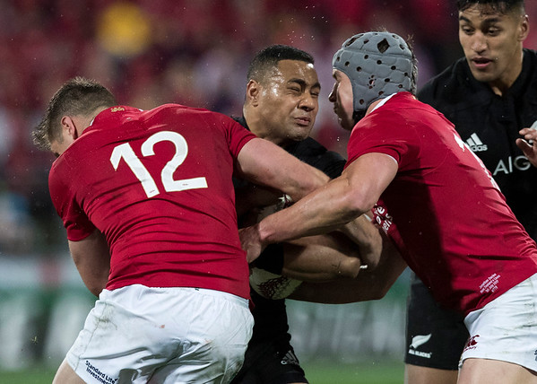 Ngani Laumape during game 9 of the British and Irish Lions 2017 Tour of New Zealand, the second Test match between  The All Blacks and British and Irish Lions, Westpac Stadium, Wellington, Saturday 1st July 2017 (Photo by Kevin Booth Steve Haag Sports)  Images for social media must have consent from Steve Haag