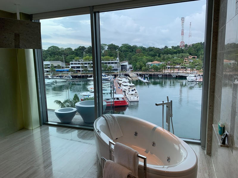Marvelous Suite with Marina View Bathroom. The view !!!!!!!