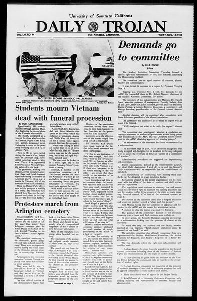 Daily Trojan, Vol. 61, No. 44, November 14, 1969