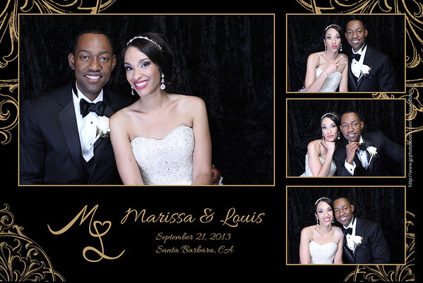 Louis and Marissa Wedding Photo Booth Prints