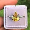 3.00ct Yellow Orange Sapphire Solitaire 5