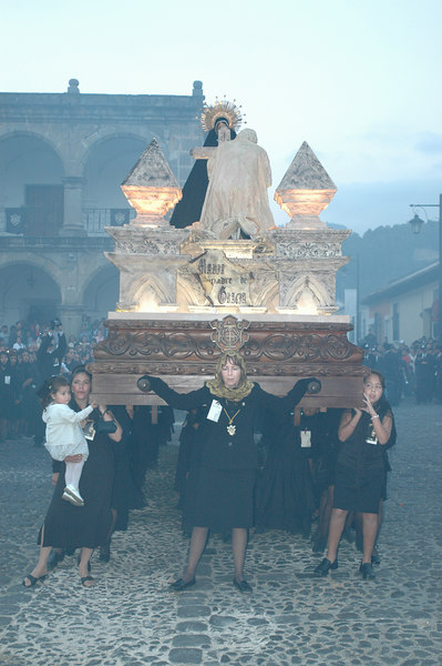 """The processions in Antigua were something that is just very difficult to explain...The participants, often young children, carry these heavy wooded """"floats"""" on their shoulders and they sway, almost as if dancing to the most somber music...very rythmic and slow.  The Frankenscence was so think in the air...I could smell it for days."""