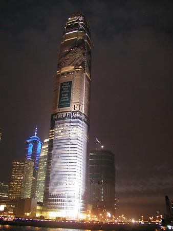 At Hong Kong Central and in Tsim Sha Tsui looking back at Central